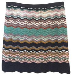 M Missoni Mini Skirt Black, copper, teal, white, pink