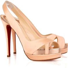 CHRISTIAN LOUBOUTIN Pink Very Croise 140 Crepe-satin Pumps  These are my exact wedding shoes!