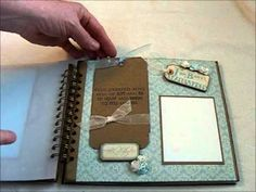 """baby boy scrapbook made out of the """"little darlings"""" paper"""