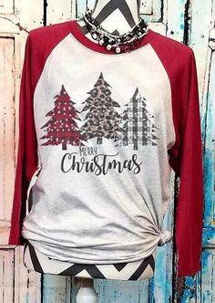 Baseball T Shirts, Plaid Christmas, Christmas Shirts, Merry Christmas, Christmas Outfits, Christmas Trees, Christmas Clothes, Christmas Decor, Christmas Fashion