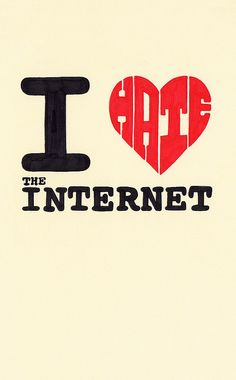 It's A Love Hate Thing (by Lee Crutchley) I love/hate the internet