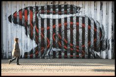 Roa Lenticular Rabbit in London