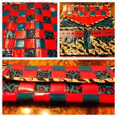 Duct tape women's wallet. Woven.