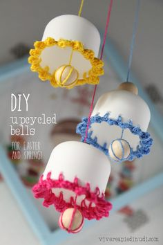 DIY Spring - Easter upcycled bells tutorial