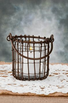 Hanging Candle Holder Wire 3.75in