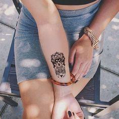 Evil Eye Temporary Tattoo, Tribal Wrist Temporary Tattoo at MyBodiArt