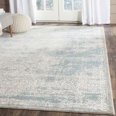 Shop for Safavieh Passion Watercolor Vintage Turquoise / Ivory Rug (9' x 12'). Get free shipping at Overstock.com - Your Online Home Decor Outlet Store! Get 5% in rewards with Club O!