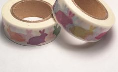 Multi Color Rabbits Washi Tape 15mm by PinkSunshineSupplies on Etsy