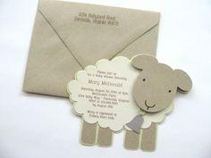 Great Vintage Themed Lamb Baby Shower Invitation By Studio73B On Etsy