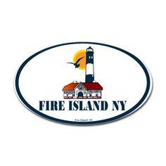 Fire Island Oval Decal on CafePress.com