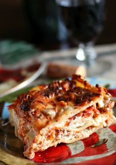 Lasagna with Homemade Red Wine Sauce