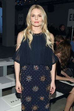 Jennifer Morrison attends the Jenny Packham Fall 2016 fashion show during New York Fashion Week: The Shows at The Gallery, Skylight at Clarkson Sq on February 14, 2016 in New York City.