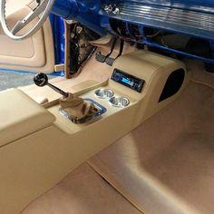 57 chevy belair custom console