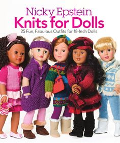 Designer, author, teacher, and knitting celebrity Nicky Epstein has created a stylish delight: 25 playful, fashion-forward patterns for 18-inch dolls. The enchanting pieces range from classic to chic and include everything from tops and pants to dresses skirts, and coats—even a lacy princess gown! Adorable accessories (hats, headbands, scarves, purses, mitts, and socks) complete this cutest-ever wardrobe of Nicky Epstein originals.