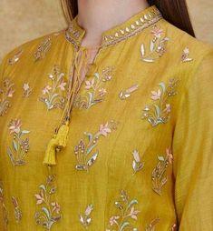 Indian Fashion Designers - Anita Dongre - Contemporary Indian Designer - The Keahi Suit - Kurti Neck Designs, Dress Neck Designs, Sleeve Designs, Blouse Designs, Indian Designer Suits, Indian Fashion Designers, Indian Attire, Indian Outfits, Indian Wear