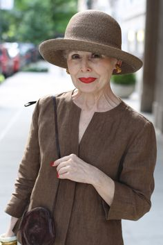"""Red lipstick is the best accessory."". aging gracefully. Advanced Style - Falling in love with this site. :)"
