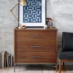 City Storage 3-Drawer Dresser - Walnut #westelm Ordered these in the nightstand version!