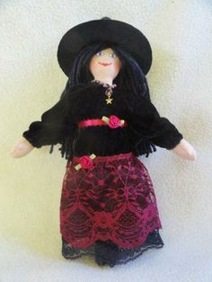 Witch Doll in Velvet and Lace Doll Outfit by JoellesDolls for $40.00