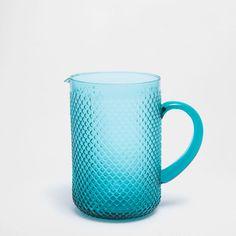 Raised honeycomb jug - PITCHERS - GLASSWARE - TABLEWARE   Zara Home Danmark