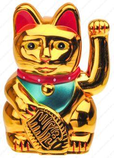 Figura Gato de la Suerte, de The Fairy Box. Puedes conseguirla en http://magia.esoterik-a.com/producto/gato-la-suerte/