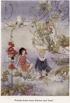 Fairies from every Flower and Tree - The Cradle Ship by Edith Howes, 1916
