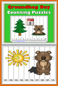 Groundhog Day Counting Puzzles (Common Core Aligned)