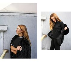 Body Top and Fur Coat. Instagram: @weekday_stores  http://shop.weekday.com