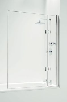 frameless two panel bath screen - Google Search