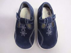 Gymboree Shoes 5 M Blue Suede T Strap Baby Toddler Girl #Gymboree #CasualShoes