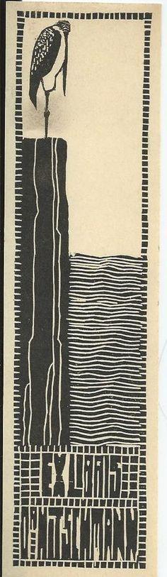 Wiener Jugendstil Exlibris M. Steinberger-Hitschmann Vienna Secession WW 1906