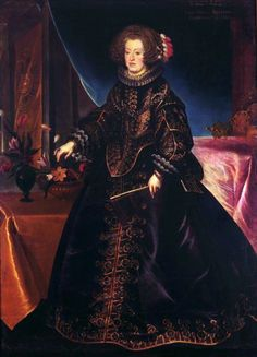 Portrait of Maria Anna of Spain, Holy Roman Empress by Frans Luycx, ca. 1638 (PD-art/old), Klasztor Sióstr Wizytek, from the collection of the Polish Vasas