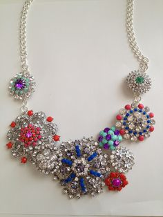 The Berrylicious Life~DIY J. Crew floral brooch necklace. Really a great tutorial