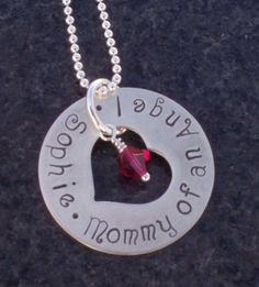 Infant Child Baby Loss Memorial Necklace by metalstampedmemories, $23.00