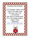 Christmas Owls Printable product from Preschool-Printable on TeachersNotebook.com