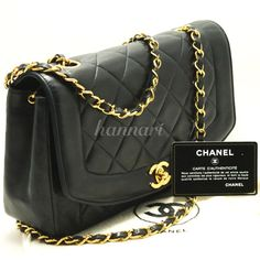 982 Authentic CHANEL Navy Classic Chain Shoulder Bag Crossbody Quilted Flap Lamb #CHANEL #MessengerCrossBodyShoulderBag