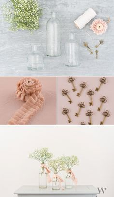 Add a dash of pink to your wedding tablescape with this simple #DIY tutorial: Pretty Bottle Vases! Learn how here: http://blog.weddingstar.com/wedding-decor-ideas-pretty-on-a-penny-part-2-making-it-yours/