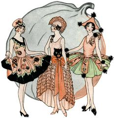 Halloween really crept up on me this year! Hope you get inspired by the vintage ideas above. Happy Halloween everyone! 1920 Halloween Costumes, Halloween Artwork, Last Minute Halloween Costumes, Theme Halloween, Halloween Cat, Vintage Costumes, Vintage Outfits, Masquerade Costumes, 1920s Costume