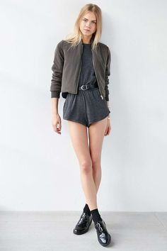 Urban Outfitters Black Tomboy Playsuit