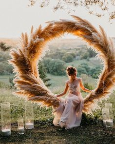 Trendy Bohemian Wedding Decorations ❤️ bohemian wedding decorations round shaped pampas grass bridal altar decorated with candles maria_zhandarova wedding inspiration Trendy Bohemian Wedding Decorations Bohemian Wedding Decorations, Wedding Wreaths, Boho Wedding, Wedding Ceremony, Dream Wedding, Wedding Bride, Backdrop Wedding, Wedding Wall, Wedding Scene