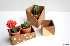 DIY: little boxes made of cork - Roomed