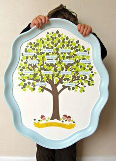 Mod Podge Family Tree Tray