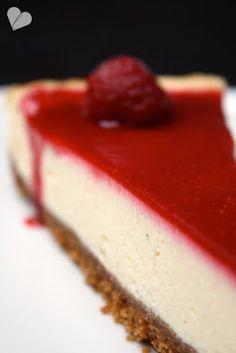 New York Cheesecake mit Himbeermousse