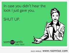 IN CASE YOU DIDN'T HEAR ....