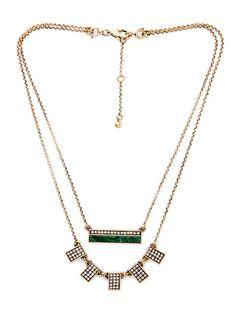 Malachite Layer Necklace