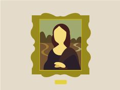 Flat Mona Lisa designed by Patricia Martinez . the global community for designers and creative professionals. Lisa Design, Mona Lisa, Design Inspiration, Graphic Design, Flat, Creative, Flat Shoes