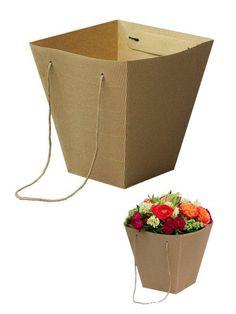 Картонная упаковка для цветов