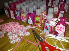 Baby Shower party favors for our baby girl's shower <3