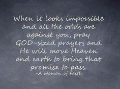 GOD sized prayers