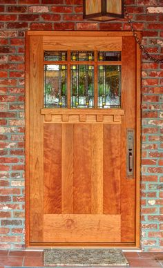 Prairie School Art Glass by Theodore Ellison Designs - Door by The Craftsman Door Company