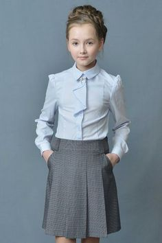 Stylish school uniform in gray School Fashion, Kids Fashion, Little Girl Dresses, Girls Dresses, Kids Uniforms, Baby Dress Patterns, Princess Outfits, Little Girl Fashion, Kids Outfits